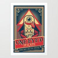 One-eyed Pirate Art Print