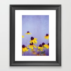 Lilac and Yellow Framed Art Print