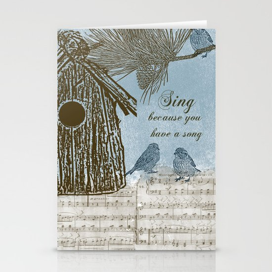 Bird Song Stationery Card