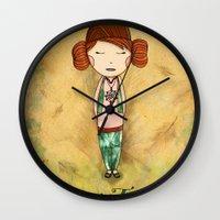 Green Tea Girl Wall Clock
