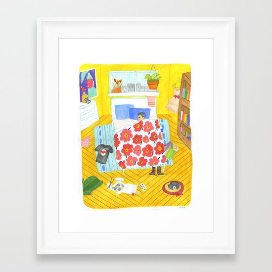 Perfect Bedroom Framed Art Print