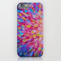 SPLASH, Revisited - Bold Beautiful Feminine Romance Ocean Beach Waves Magenta Plum Turquoise Crimson iPhone 6 Slim Case