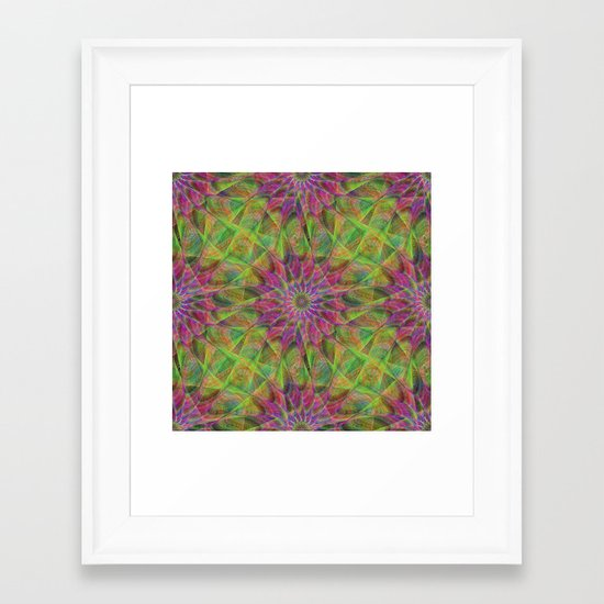 Fractal pattern Framed Art Print