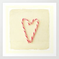 Christmas Heart  Art Print