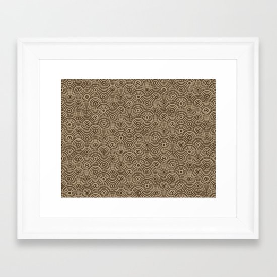 Orbis (Brown) Framed Art Print