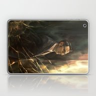 Laptop & iPad Skin featuring The Abyss Gazes Back by Alice X. Zhang