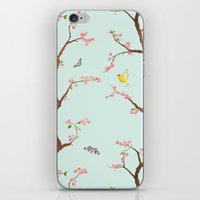 Jenny Chinoiserie on mint iPhone & iPod Skin