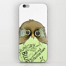 Worried Owl iPhone & iPod Skin
