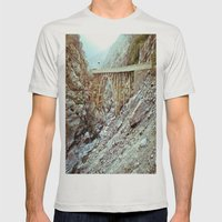 Bridge To Nowhere Mens Fitted Tee Silver SMALL