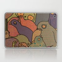 A bunch of birds in blue mosaic  Laptop & iPad Skin