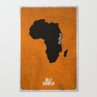Help Somalia Canvas Print