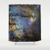 Shower Curtain featuring The Milky Way And Conste… by Guido Montañés