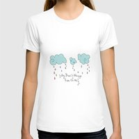 Rain Womens Fitted Tee White SMALL