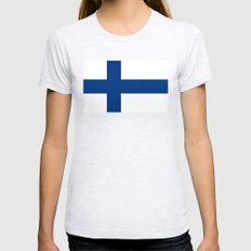 National flag of Finland - Authentic Womens Fitted Tee Ash Grey SMALL