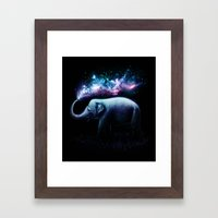 Elephant Splash Framed Art Print
