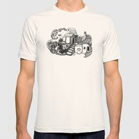 Santorini Mens Fitted Tee Natural SMALL