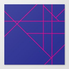 Blue and Pink Canvas Print