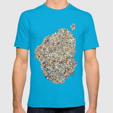 Stones Mens Fitted Tee Teal SMALL