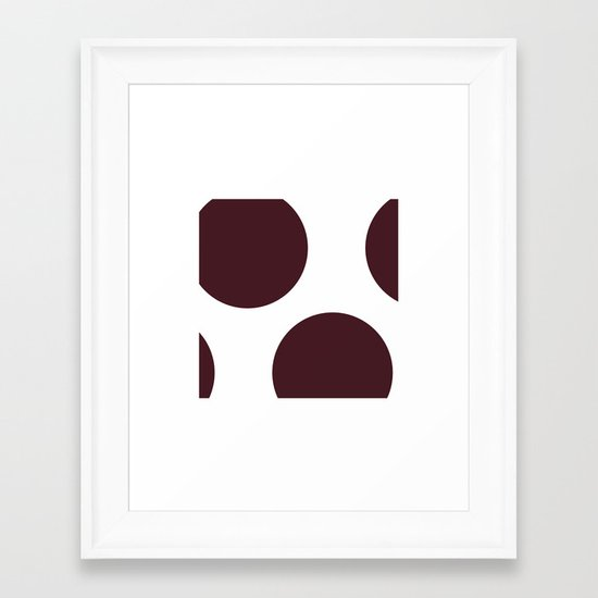 #127 The space between (Polka dots) – Geometry Daily Framed Art Print