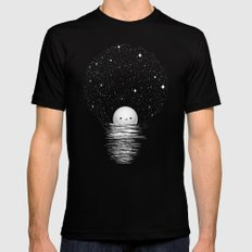 Natural light SMALL Black Mens Fitted Tee
