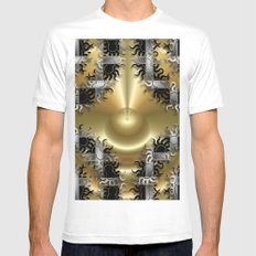 Abstract 102 Mens Fitted Tee White SMALL