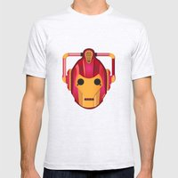 Cyber Iron Man Mens Fitted Tee Ash Grey SMALL
