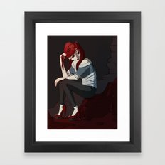 Bored. Framed Art Print