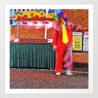 Hey clown Art Print
