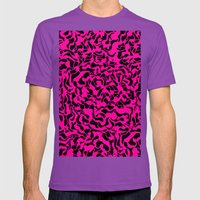 Abstract Pink Black Geom… Mens Fitted Tee Ultraviolet SMALL