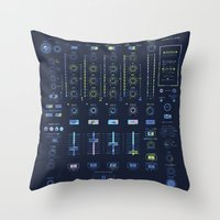 DJ Mixer Throw Pillow