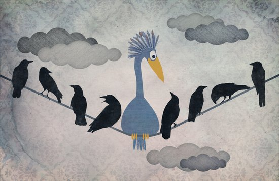 """For """"The Birds"""" Canvas Print"""