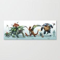 -Venusaur-Charizard-Blas… Canvas Print