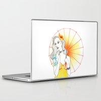 pin up Laptop & iPad Skins featuring Pin-Up  by Susana Carvalhinhos