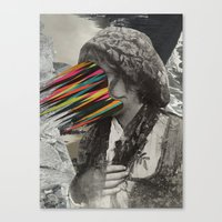 Portrait of a sicilian girl (2014) Canvas Print