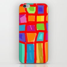 Colorful Grid iPhone & iPod Skin