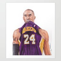 Kobe24  Ballpoint Pen Drawing  Art Print