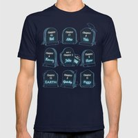 Spoiler Graveyard Mens Fitted Tee Navy SMALL