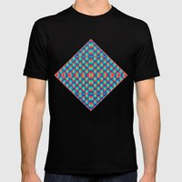 BriteBricks Pattern Mens Fitted Tee Black SMALL