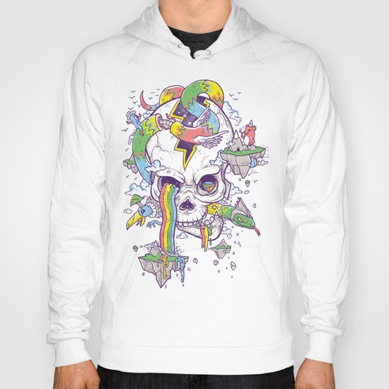 Flying Rainbow skull Island Hoody