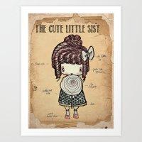 The Cute Little Sister Art Print