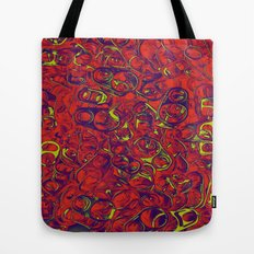 Ipad skins, Iphone, Computer, Canvas, Print, Red, Abstract, Funky Tote Bag