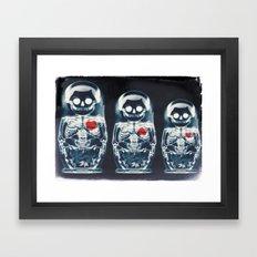 Nesting Doll X-Ray Framed Art Print