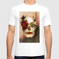 Skull3 Mens Fitted Tee White SMALL