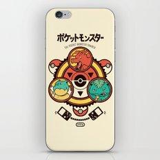Pocket Monster Trainer iPhone & iPod Skin
