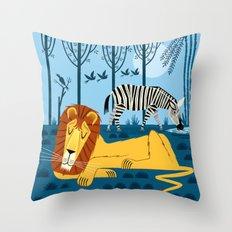 Whilst The Lion Sleeps Throw Pillow