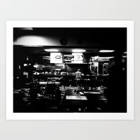 Lonely Cafe' Art Print
