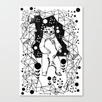 Bear In The Night Canvas Print