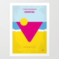 No603 My Cocktail minimal movie poster Art Print