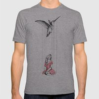 Hummingbird Mens Fitted Tee Athletic Grey SMALL