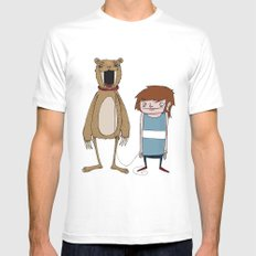 Pet Bear SMALL Mens Fitted Tee White